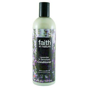 Кондиционер для волос на основе экстрактов лаванды и герани Faith in nature 400 ml