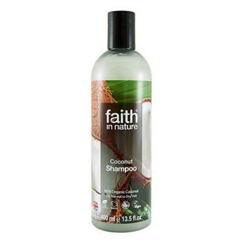 Шампунь для волос на основе экстракта кокосового масла Faith in nature 400 ml