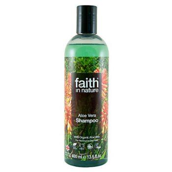 Шампунь для волос на основе экстракта алое вера Faith in nature 400 ml
