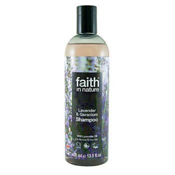 Шампунь для волос на основе экстрактов лаванды и герани Faith in nature 400 ml