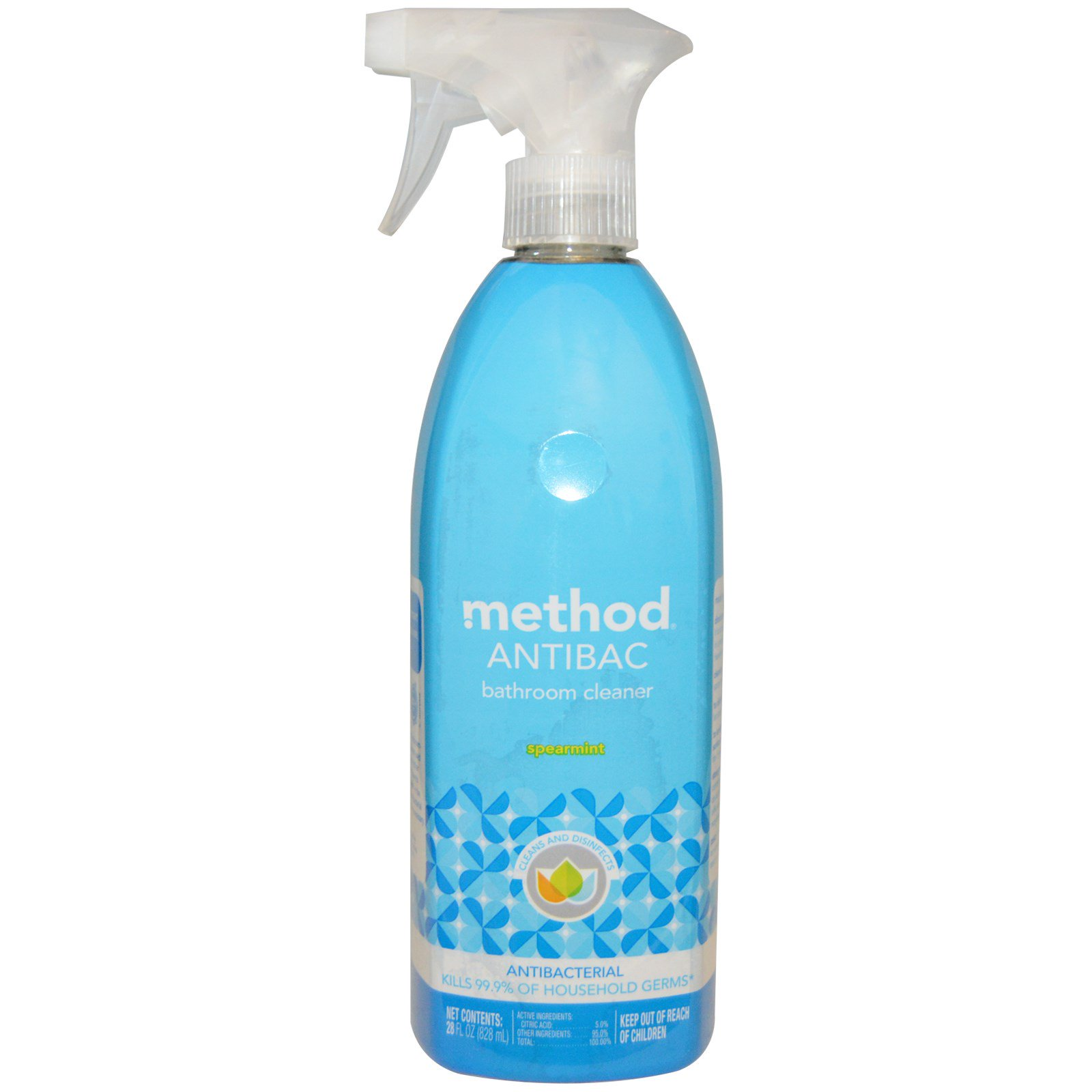 Method, Натуральное, чистящее средство для ванны, Мята,(828 мл)