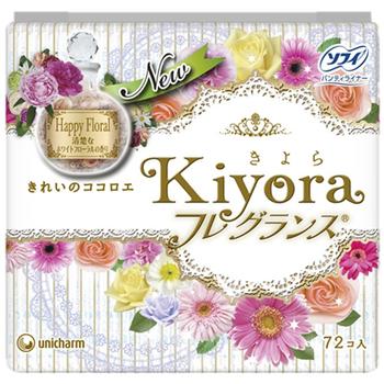 Ежедневные гигиенические прокладки с цветочным ароматом 72 шт/14см Unicharml
