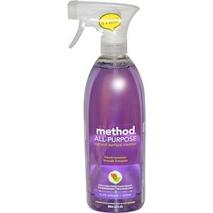 Натуральное средство для чистки любых поверхностей, французская лаванда,  (828 мл)