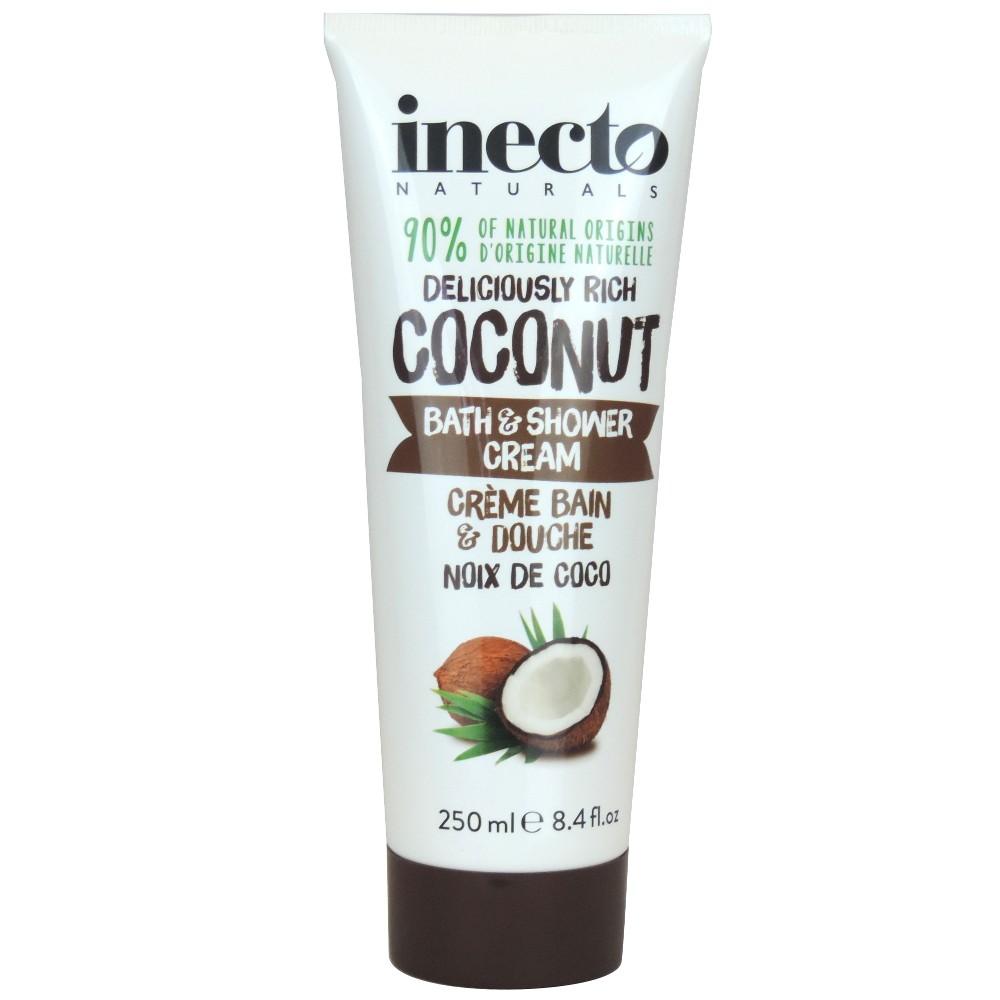 Гель для душа обогащенный чистым органическим кокосовым маслом 250мл/Inecto Naturals Coconut Bath & Shower Cream