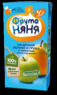 Сок из яблок и груш с мякотью гипоаллергенный
