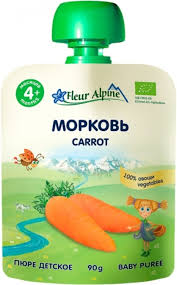 Fleur Alpine детское пюре «Морковь» 90 гр