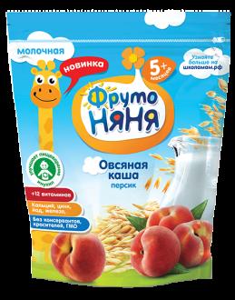 Каша молочная овсяная с персиками 200 гр