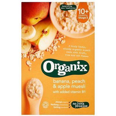 Organix Каша-мюсли «Банан, персик и яблоко», 200гр