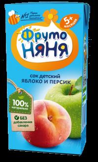 Сок из яблок и персиков неосветленный