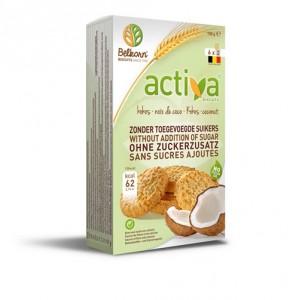 Печенье Activa со вкусом кокоса без сахара 150 гр