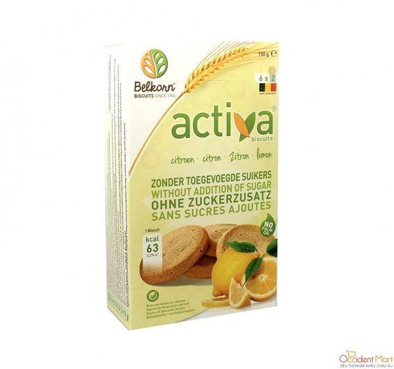 Печенье Activa со вкусом лимона без сахара 150 гр
