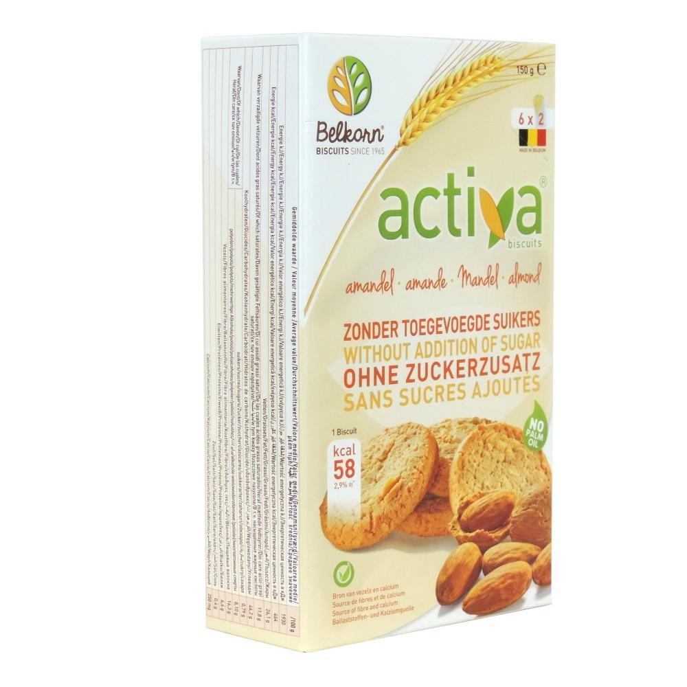 Печенье Activa со вкусом миндаля без сахара 150 гр