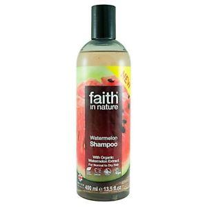 Шампунь для волос на основе экстракта органического арбуза Faith in nature 400 ml