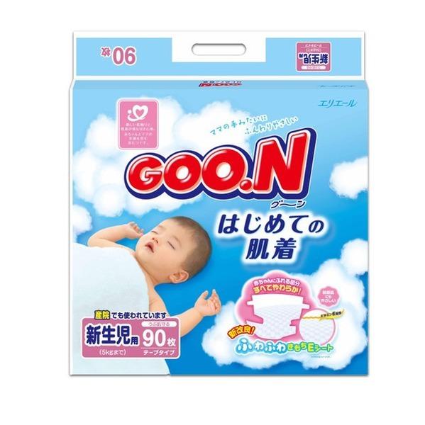 Подгузники GooN Super Jumbo для новорожденных NB 90 (до 5кг)