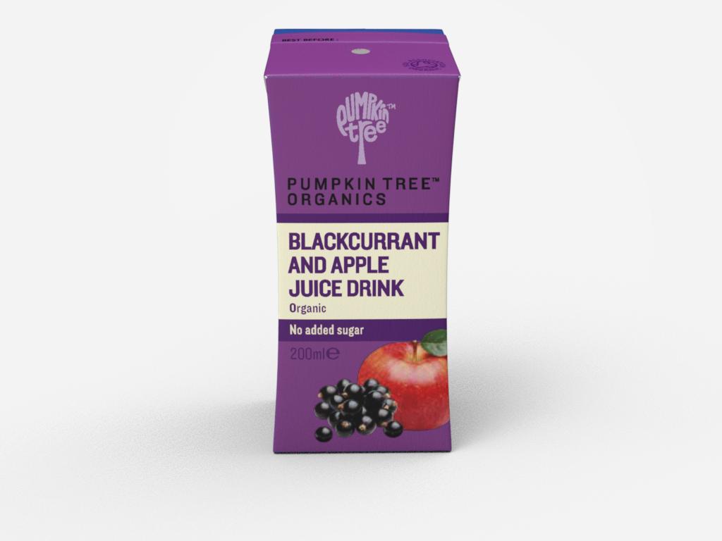 Органический сок черная смородина и яблоко 200 мл 6+мес