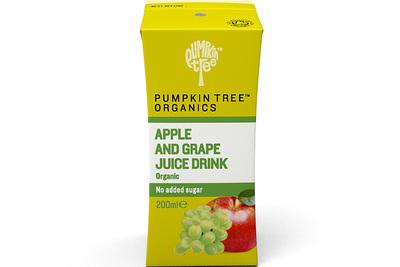 Органический сок яблоко и виноград 200 мл 6+мес