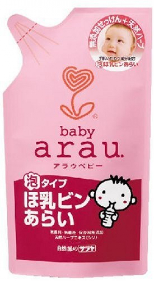 """Средство для мытья детских посуды пенкой """"Arau Baby""""/запасной блок 450мл."""