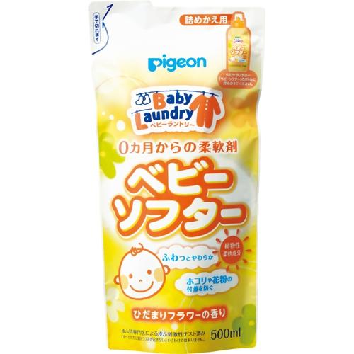 Pigeon.Бальзам-ополаскиватель для детского белья/мягкая упаковка/500 мл.