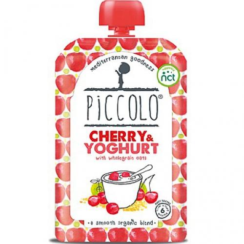 Йогурт с вишней и овсянкой 6+мес/100гр