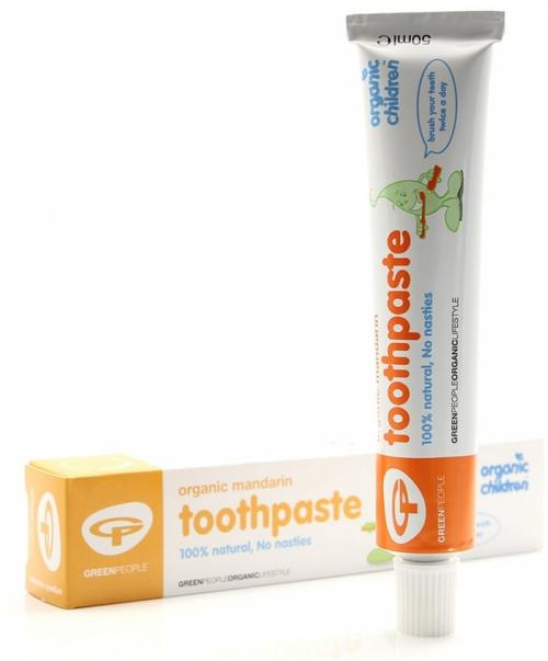 Органическая детская зубная паста мандарин, 50 мл