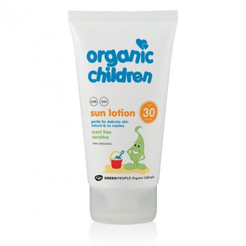 Органический солнцезащитный лосьон для детей и взрослыз без запаха Green People Child Sun Lotion SPF30 high