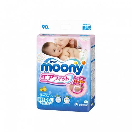 Подгузники Moony для новорождённых NB 90 (0-5кг)