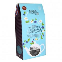 Органический белый чай с черникой и бузиной 16 пак 32гр