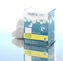 Гигиенические прокладки Natracare ультратонкие для для умеренных выделений, с крылышками 14шт