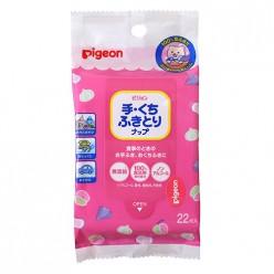 Детские влажные пищевые салфетки (игрушки/сосоки/фрукты/руки/лицо), Pigeon, 22 шт.