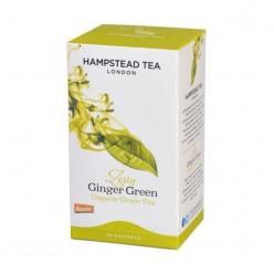 Органический зеленый чай с имбирем и лемонграссом, 20 пакетиков