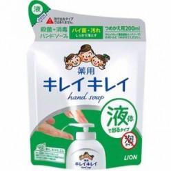 Жидкое антибактериальное мыло для рук Kirei Kirei, Lion запасной блок 200 мл (с ароматом цитрусовых)