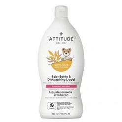Средство для мытья посуды и детских бутылочек для чувствительной кожи на основе коллоидной овсянки ATTITUDE Sensitive Skin Baby , 700 мл