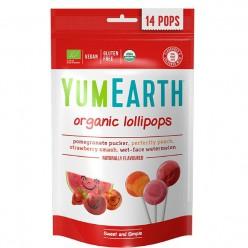 Органические леденцы со вкусом граната, персика, клубники и арбуза .Упаковка 14 шт