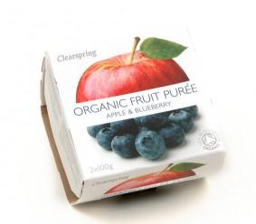 Органическое пюре яблоко & черника. 2*100 gr