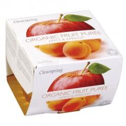 Органическое пюре яблоко & абрикос. 2*100 gr