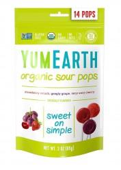 Органические леденцы со вкусом яблока, вишни и винограда. Упаковка 14 шт