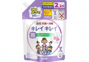 Пенное мыло для рук без запаха Kirei Kirei, LION 450 мл (запаска)