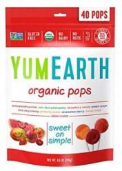 Органические леденцы со вкусом граната ,арбуза, клубники, вишни, персика и манго Упаковка 40 шт