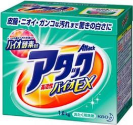 """Стиральный порошок с ароматом фруктового мыла KAO """"Attack Highly Active BIO EX"""""""