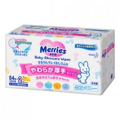 Влажные салфетки  Merries/мягкая упаковка/2 x 54шт