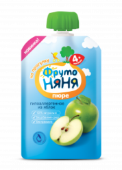 Пюре яблочное натуральное гипоаллергенное