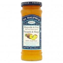 Французский джем без сахара 100% фрукты( ананас манго) 284гр.