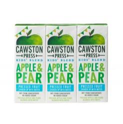 Натуральный сок из прессованных фруктов яблоко и груша 3х200мл