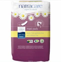 Гигиенические прокладки с крылышками Natracare  (12шт)