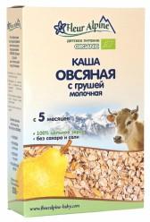 Каша овсяная с грушей на коровьем молоке с 5мес.175гр.
