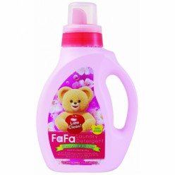 """Жидкое средство для стирки детской одежды с антибактериальным эффектом с ароматом яблочного цвета. Nissan """"FaFa Clear Apple Blossom"""" бутылка 1кг"""